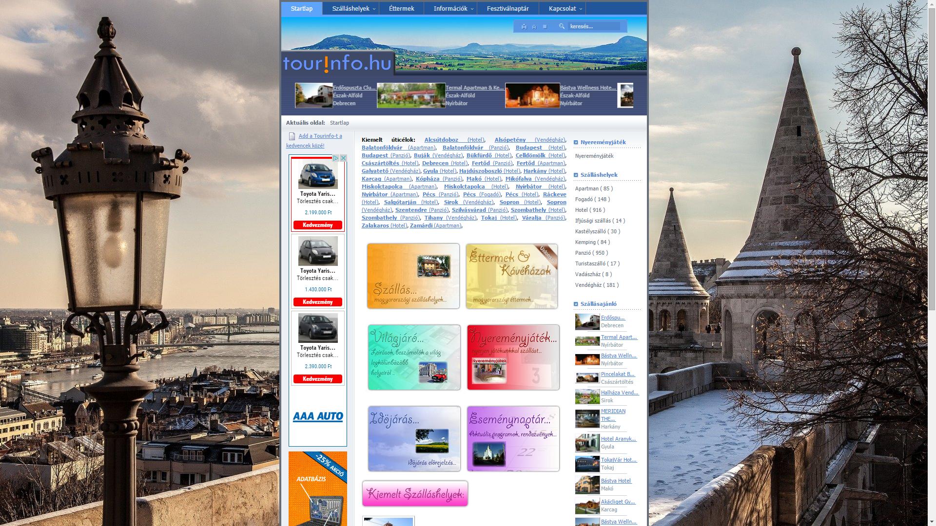 Tourinfo utazási portál