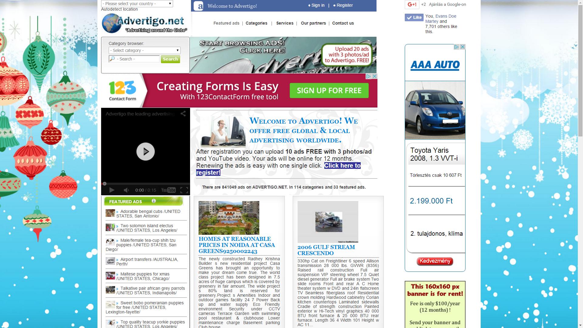 Advertigo.net – Nemzetközi hirdetési portál